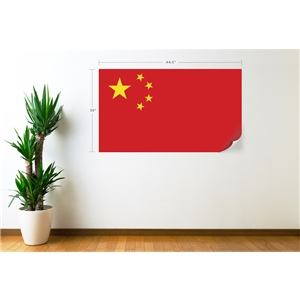 China Flag Wall Decal