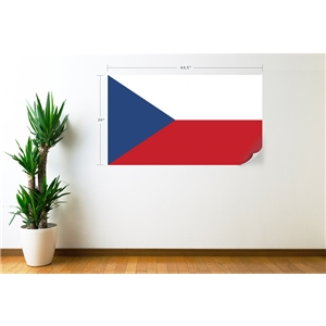 Czech Republic Flag Wall Decal