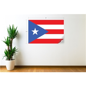 Puerto Rico Flag Wall Decal