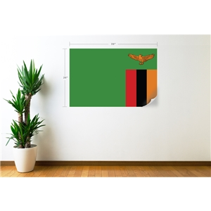 Zambia Flag Wall Decal