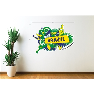 Brazil 2014 FIFA World Cup Celebration Wall Decal