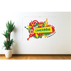 Cameroon 2014 FIFA World Cup Celebration Wall Decal