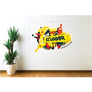 Ecuador 2014 FIFA World Cup Celebration Wall Decal