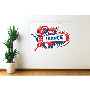 France 2014 FIFA World Cup Celebration Wall Decal