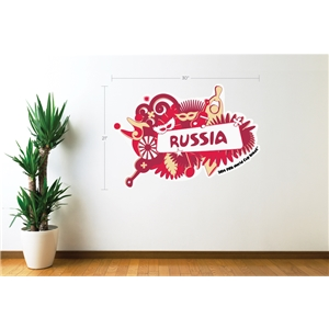 Russia 2014 FIFA World Cup Celebration Wall Decal