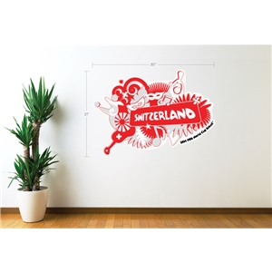 Switzerland 2014 FIFA World Cup Celebration Wall Decal