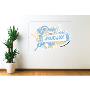Uruguay 2014 FIFA World Cup Celebration Wall Decal