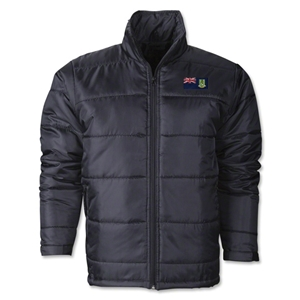 British Virgin Islands Flag Polyfill Puffer Jacket