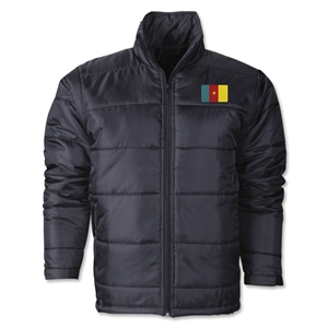 Cameroon Flag Polyfill Puffer Jacket