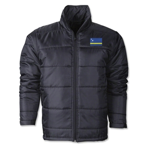 Curacao Flag Polyfill Puffer Jacket