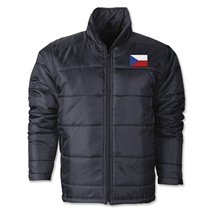 Czech Republic Flag Polyfill Puffer Jacket