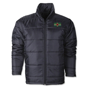 Dominica Flag Polyfill Puffer Jacket