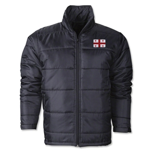 Georgia Flag Polyfill Puffer Jacket