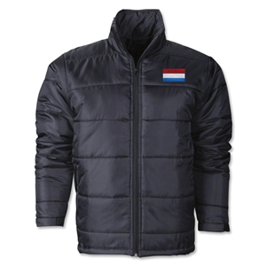 Luxembourg Flag Polyfill Puffer Jacket
