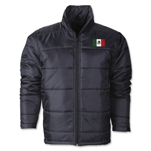 Mexico Flag Polyfill Puffer Jacket