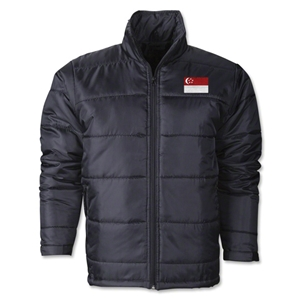 Singapore Flag Polyfill Puffer Jacket