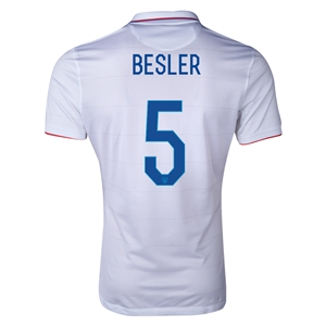 USA 2014 BESLER Authentic Home Soccer Jersey