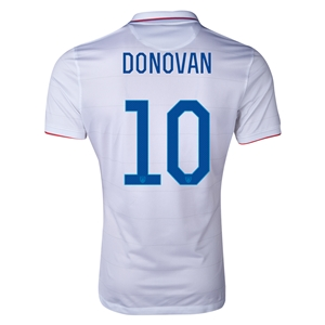 USA 2014 DONOVAN Authentic Home Soccer Jersey