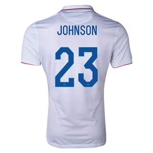 USA 14/15 JOHNSON Authentic Home Soccer Jersey
