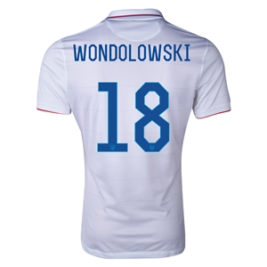 USA 2014 WONDOLOWSKI Authentic Home Soccer Jersey