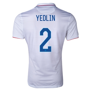 USA 14/15 YEDLIN Authentic Home Soccer Jersey