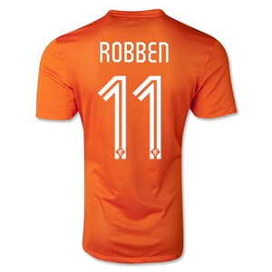 Netherlands 2014 ROBBEN Authentic Home Soccer Jersey