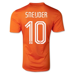 Netherlands 2014 SNEIJDER Authentic Home Soccer Jersey