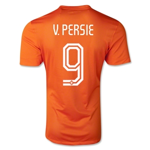 Netherlands 2014 V. PERSIE Authentic Home Soccer Jersey