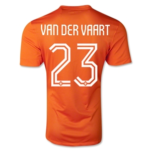 Netherlands 2014 VAN DER VAART Authentic Home Soccer Jersey