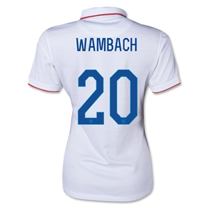 USA 2014 WAMBACH Women's Home Soccer Jersey