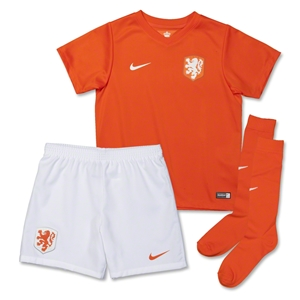 Netherlands 2014 Little Boys Home Soccer Kit
