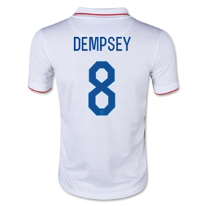 USA 2014 DEMPSEY Youth Home Soccer Jersey