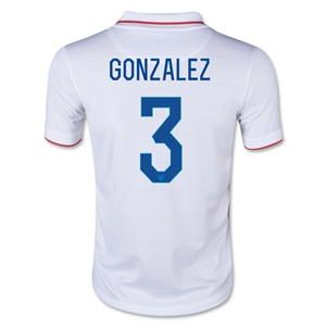 USA 14/15 GONZALEZ Youth Home Soccer Jersey
