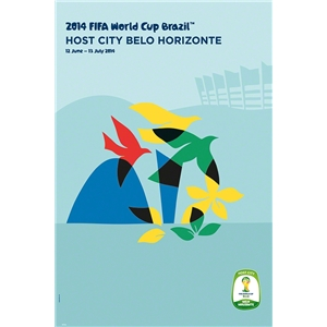 Belo Horizonte 2014 FIFA World Cup Brazil(TM) Host City Poster
