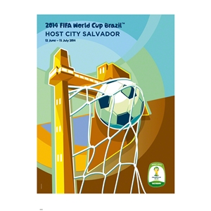 Salvador 2014 FIFA World Cup Brazil(TM) Host City Poster