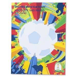 Sao Paulo 2014 FIFA World Cup Brazil(TM) Host City Poster