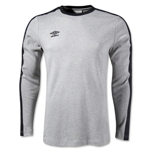 Umbro LS Ringer T-Shirt (Gray)