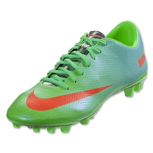 Nike Mercurial Vapor IX AG Cleats ((Neo Lime/Metallic Silver/Polarized Blue/Total Crimson)