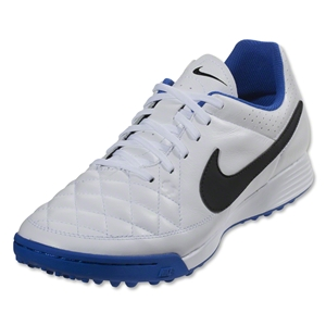 Nike Tiempo Genio Leather TF (White/Black/Treasure Blue)