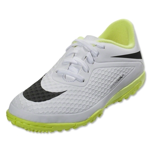 Nike Junior Hypervenom Phelon TF (White/Volt)