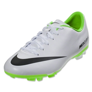 Nike Junior Mercurial Victory FG (White/Electric Green)