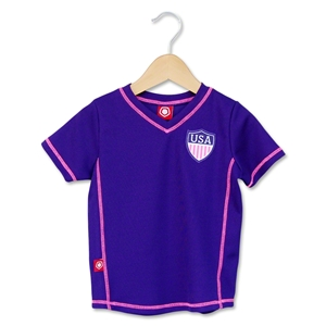 USA Soccer Toddler Girls Jersey (Purple)