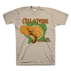 Ivory Coast Elephant T-Shirt (Tan)