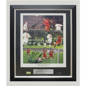 ICONS Signed Liverpool 2005 Champions League Final Photo (Framed)