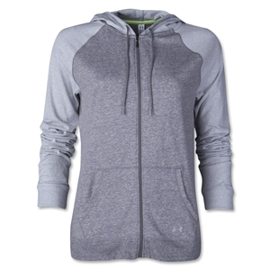 Under Armour Charged Cotton Women's Legacy Full-Zip Hoody (White/Gray)
