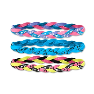Under Armour -Pack Braided Mini Headbands 14 (Blue)