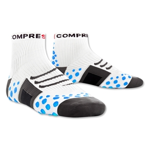 Compressport High Cut Racing Socks (White/Sky)