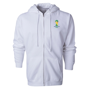 2014 FIFA World Cup Brazil(TM) Men's Official Emblem Full Zip Hoody (White)
