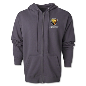 Jaguares Distressed Full Zip Hooded Fleece (Dark Gray)