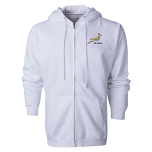 South Africa Springboks Full-Zip Hooded Fleece (White)